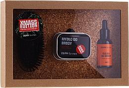 Духи, Парфюмерия, косметика Набор - Zew For Men (oil/30ml + soap/85ml + brush/1pcs + soap/holder/1pcs)