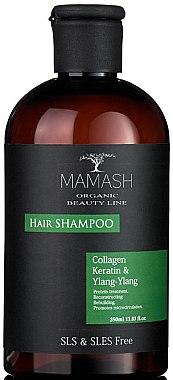 Шампунь-гидрант с кератином, экстрактом иланг-иланг и коллагеном - Mamash Organic Hair Shampoo