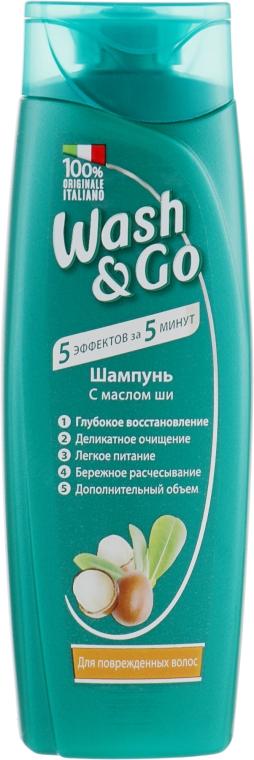 Шампунь с маслом ши для поврежденных волос - Wash&Go