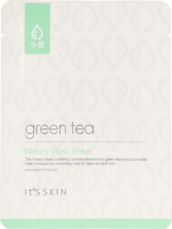 Тканевая маска для жирной и комбинированной кожи с зеленым чаем - It's Skin Green Tea Watery Mask Sheet