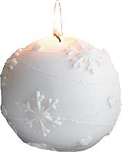 Духи, Парфюмерия, косметика Декоративная свеча, шар белая, 8 см - Artman Snowflake Application