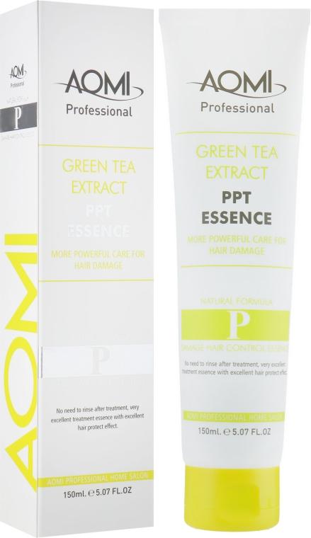 Эссенция для тонких волос с эффектом легкого стайлинга - Aomi Green Tea Extract PPT Essence