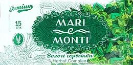 "Духи, Парфюмерия, косметика Влажные салфетки ""Шалфей"" - Mari E Monti Premium Herbal Complex"