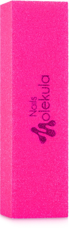 Баф 4-х сторонний 120/120, неоново-розовый - Nails Molekula