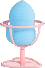 Духи, Парфюмерия, косметика Спонж для макияжа на подставке-ножке, PF-57, голубой - Puffic Fashion