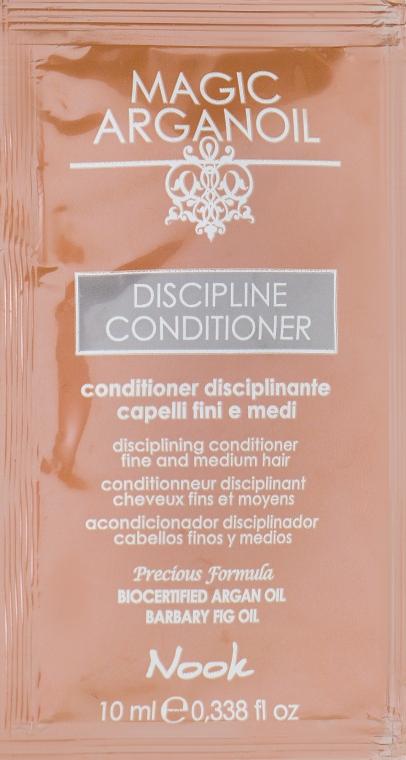 Кондиционер для гладкости тонких и нормальных волос - Nook Magic Arganoil Disciplining Conditioner (пробник)