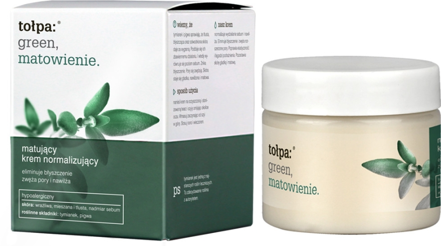 Матирующий крем для лица - Tolpa Green Mattifying Normalizing Cream