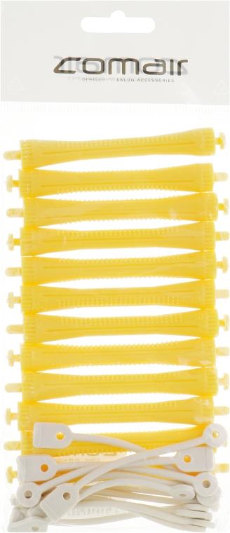 Бигуди для холодной завивки, с круглой резинкой, жёлтые, d8 - Comair