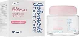 Духи, Парфюмерия, косметика Ночной увлажняющий крем для нормальной кожи - Johnson's® Daily Essentials Night Cream For Normal Skin
