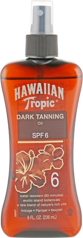 Масло-спрей для загара - Hawaiian Tropic Dark Tanning Oil Pump SPF 6
