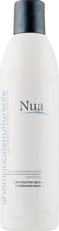 Восстанавливающий шампунь с экстрактом овса и семенами льна - Nua Shampoo Ristrutturante