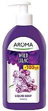 """Духи, Парфюмерия, косметика Жидкое мыло смягчающее """"Дикая сирень"""" - Aroma Wild Lilac Liquid Soap"""