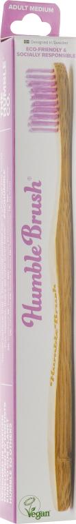 Зубная щетка, средней жесткости, розовая - The Humble Co.