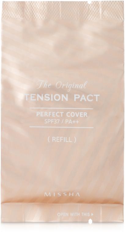 Тональное средство-кушон с безупречным покрытием - Missha The Original Tension Pact Perfect Cover SPF37/PA++ (запасной блок)