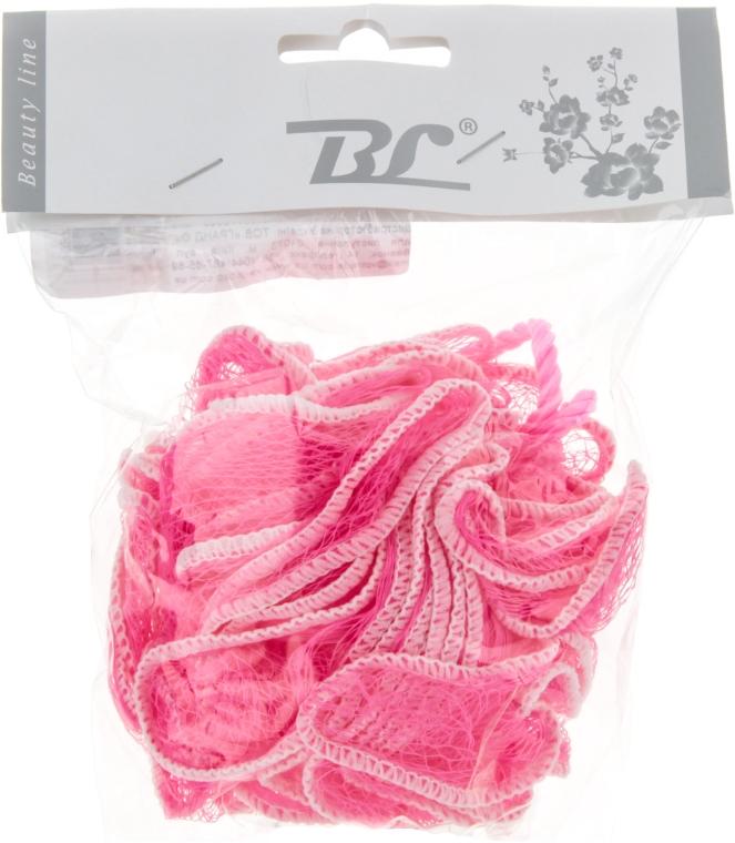 Мочалка банная, синтетическая, розовая - Beauty Line