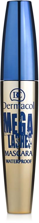 Тушь для суперобъема с панорамным эффектом водостойкая - Dermacol Mega Lashes Waterproof Mascara
