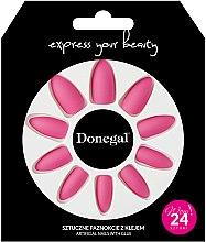 Духи, Парфюмерия, косметика Набор искусственных ногтей с клеем, 3053 - Donegal Express Your Beauty