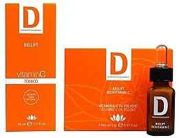 Духи, Парфюмерия, косметика Набор - Dermophisiologique Biolift Biovitamin C+ (vitamin C/3x2gr + tonic/50ml)