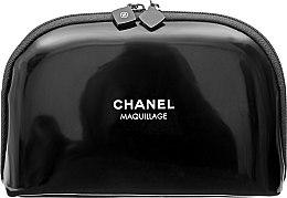 Духи, Парфюмерия, косметика Косметичка лаковая маленькая, черная - Chanel