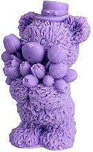 """Духи, Парфюмерия, косметика Мыло натуральное """"Мишка с букетом"""", фиолетовый - LaQ"""
