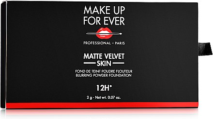 Матирующая тональная пудра - Make Up For Ever Matte Velvet Skin Blurring Powder Foundation (пробник) — фото N1