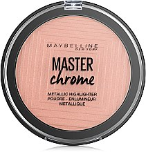 "Хайлайтер для лица ""Master Chrome"" - Maybelline New York — фото N2"