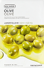 Парфумерія, косметика Маска-серветка для обличчя екстракт - The Face Shop Real Nature Mask Sheet Olive