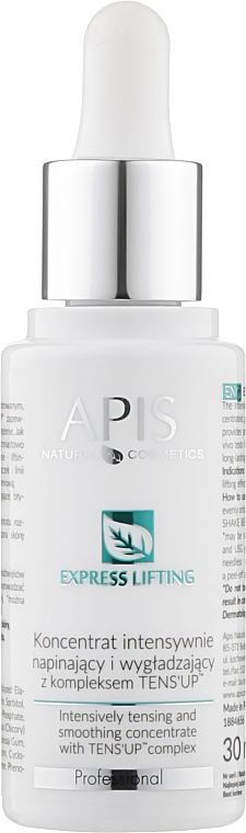 Концентрат для лица - APIS Professional Express Lifting Intensive Tensing And Smoothing Concentrate