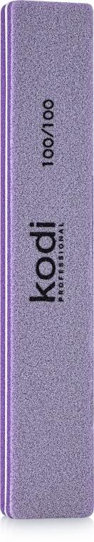 "Баф для ногтей ""Прямой"" - Kodi Professional lilac, 100/100"