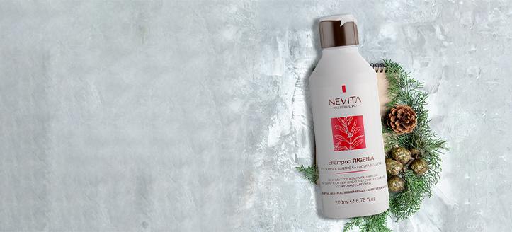 При покупке ампул против выпадения волос от Nevitaly получите в подарок шампунь против выпадения волос