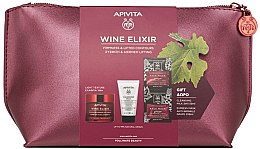 Духи, Парфюмерия, косметика Набор - Apivita Wine Elixir Cream Light Texture (cream/50ml + milk/50ml + mask/2x8ml)