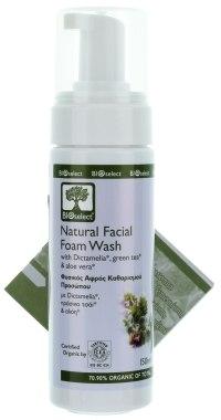 Пенка для умывания с Диктамелией, зелёным чаем и алоэ - BIOselect Natural Facial Foam Wash