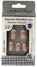 """Духи, Парфюмерия, косметика Накладні нігті """"Французький манікюр"""", 77951 - Top Choice Fashion Design"""
