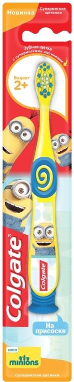 """Детская зубная щетка """"Миньоны"""" 2+, супермягкая, желтая - Colgate"""