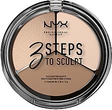 Духи, Парфюмерия, косметика Палетка корректирующих средств - NYX Professional Makeup 3 Steps To Sculpting Palette