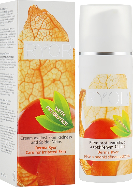 Крем против покраснений и расширенных сосудов (с пробиотиками) - Ryor Derma Anti Redness