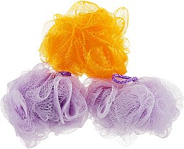 """Духи, Парфюмерия, косметика Губка банная сетчатая """"Bant"""", фиолетовая + оранжевая + фиолетовая - Акватория"""