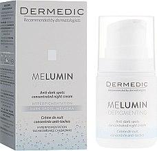Духи, Парфюмерия, косметика Ночной крем для лица - Dermedic Melumin Depigmenting Night Cream