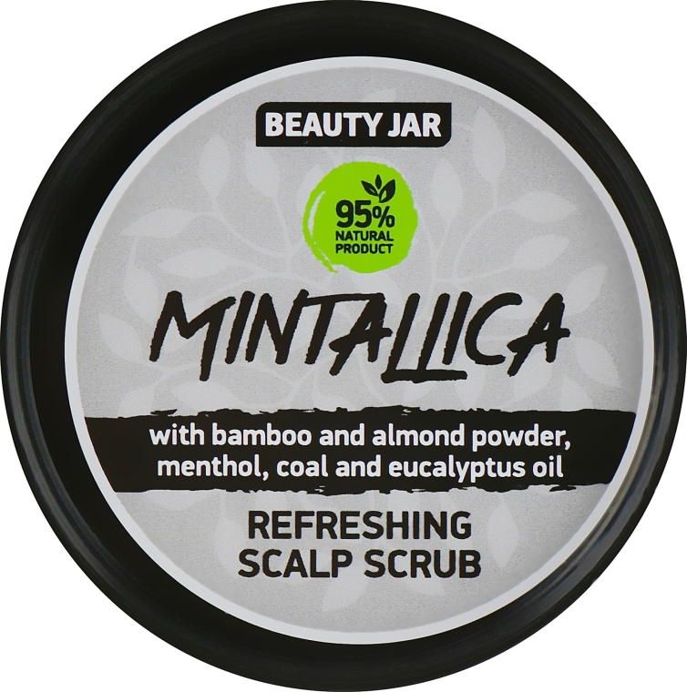 "Скраб-шампунь очищающий для кожи головы ""Mintallica"" - Beauty Jar Refreshing Scalp Scrub"