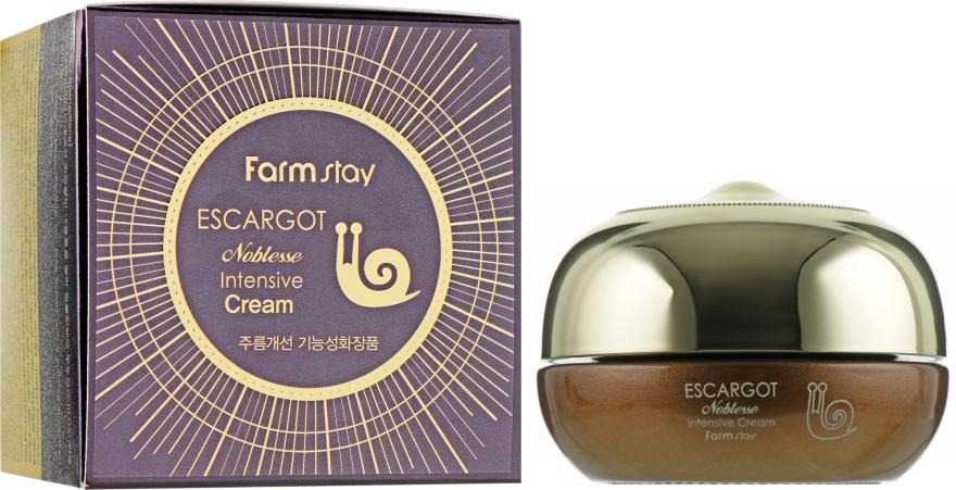 Крем для лица с экстрактом королевской улитки - FarmStay Escargot Noblesse Intensive Cream
