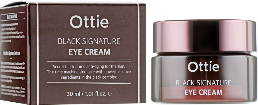 Крем вокруг глаз с муцином черной улитки - Ottie Black Signature Eye Cream