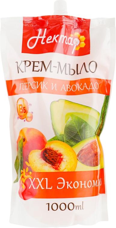 """Жидкое крем-мыло """"Нектар. Персик и авокадо"""" - Aqua Cosmetics (дой-пак)"""