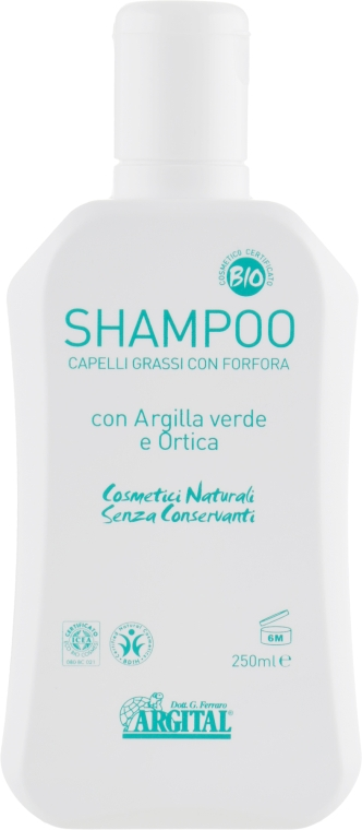 Шампунь для жирных волос и против перхоти - Argital Shampoo For Greasy Hair And Anti-Dandruff