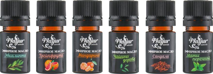 """Подарочный набор эфирных масел для волос, тела и ароматерапии """"Тропический блюз"""" - Mayur (6 xoil/5 ml)"""