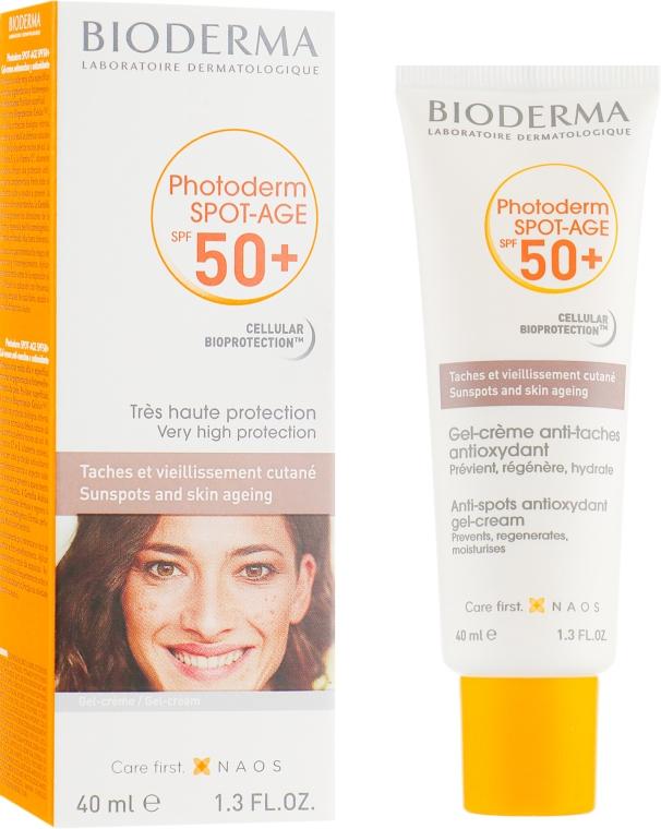 Солнцезащитный крем для лица - Bioderma Photoderm Spot-Age SPF 50+