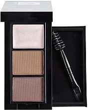 Духи, Парфюмерия, косметика Набор для макияжа бровей, 2 тона + хайлайтер - Christian Facetime Eyebrow Makeup Kit