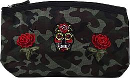 """Духи, Парфюмерия, косметика Косметичка """"Camouflage"""", 95900, розы и череп - Top Choice"""