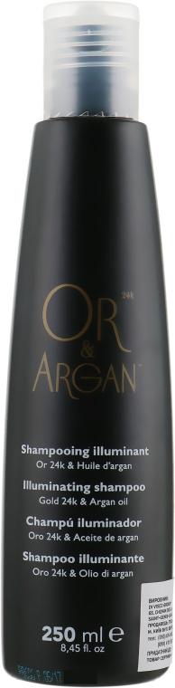 Шампунь иллюминирующий с микроактивным золотом - Or&Argan Shampoo Illuminates With Gold
