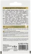 Маска с содержанием металлов для зрелой и чувствительной кожи - Bielenda Gold Detox — фото N2