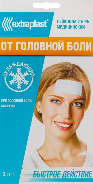 Пластырь-компресс от головной боли, охлаждающий 5 x 12 см - Extraplast